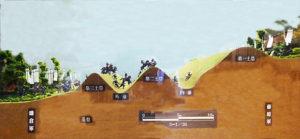 土塁の断面図