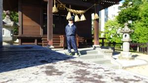 板倉神社・早朝ジョギング