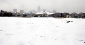 積雪6センチ